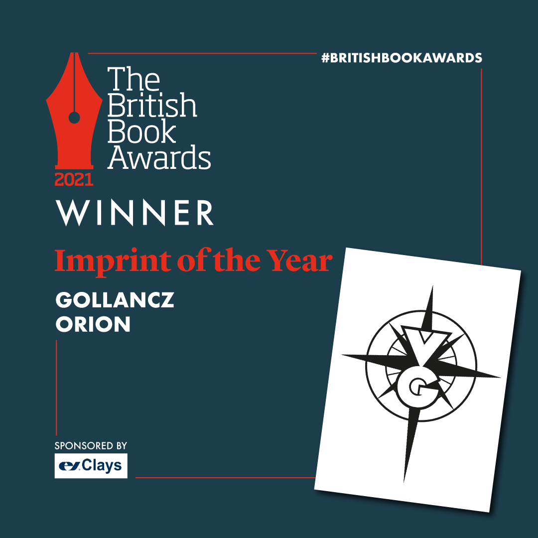 Gollancz Wins Imprint of the Year at the British Book Awards 2021